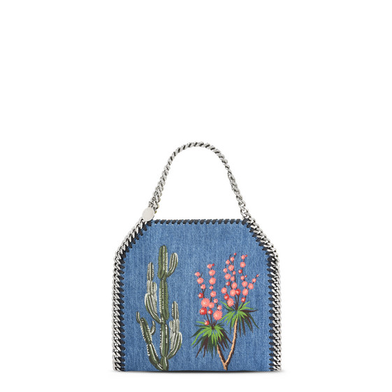 Falabella Denim Embroidered  Mini Bag