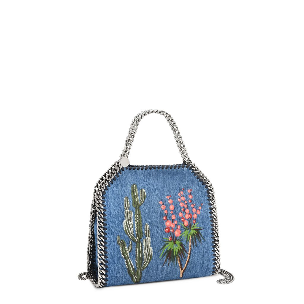Falabella Denim Embroidered  Mini Bag  - STELLA MCCARTNEY