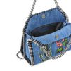 STELLA McCARTNEY Falabella Denim Embroidered Mini Bag  Falabella Mini Bags D e