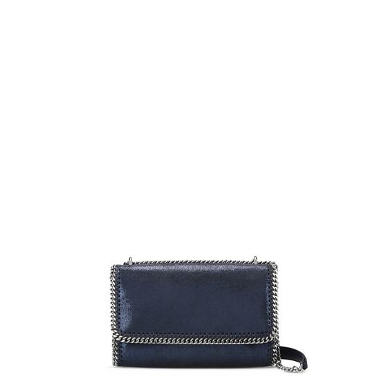 Ink Falabella Shiny Dotted Chamois Shoulder Bag