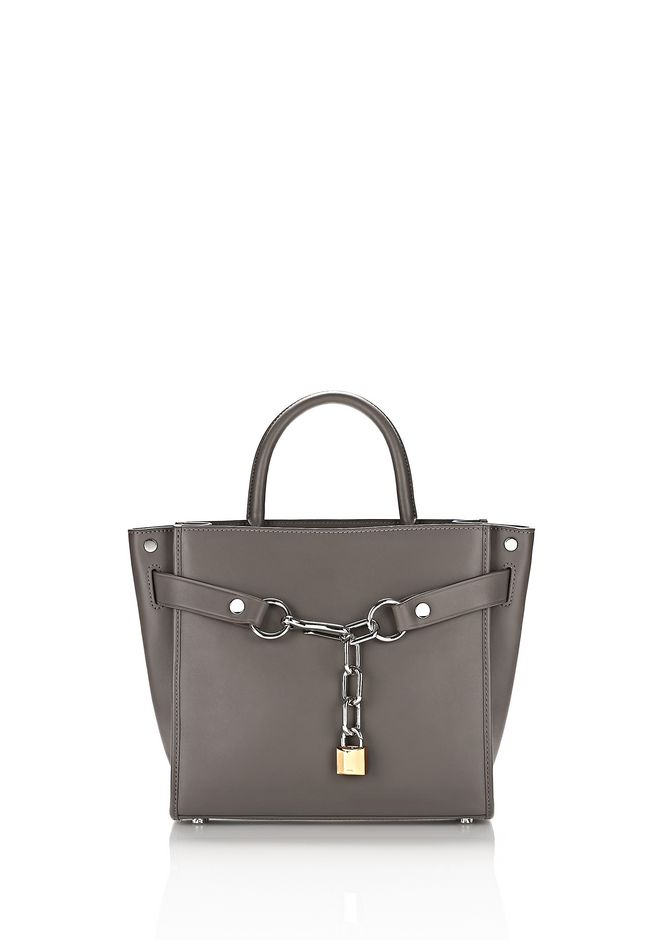 ALEXANDER WANG Shoulder bags Women ATTICA CHAIN SATCHEL IN MINK WITH RHODIUM