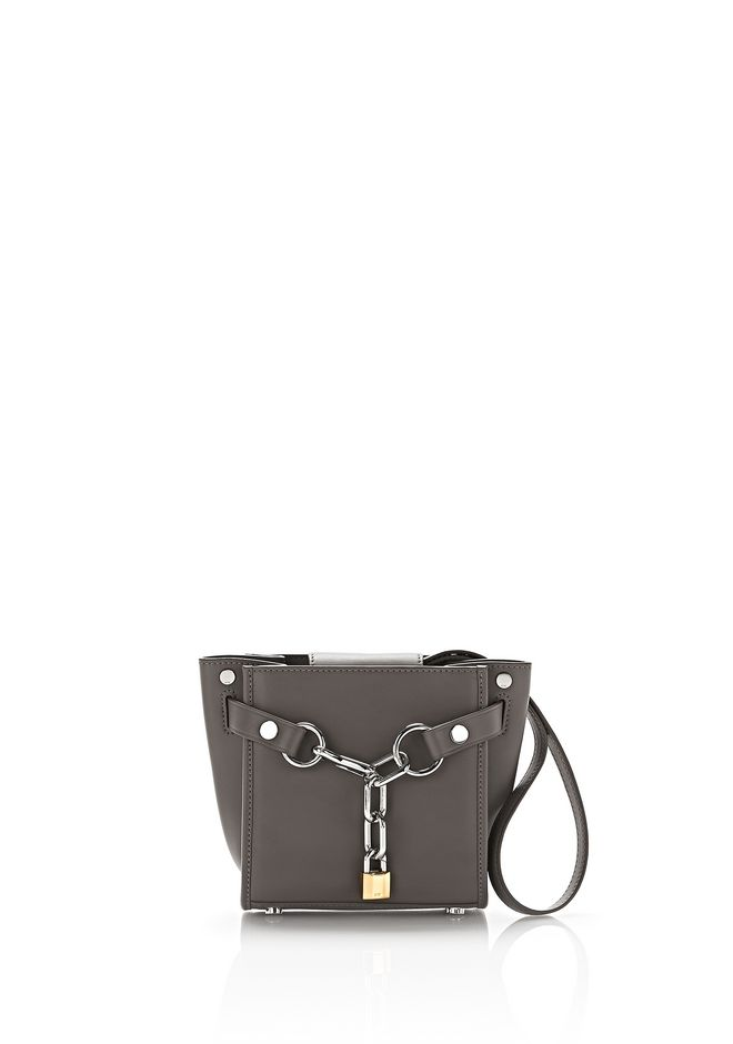 ALEXANDER WANG mini-bags ATTICA CHAIN MINI SATCHEL IN MINK WITH RHODIUM
