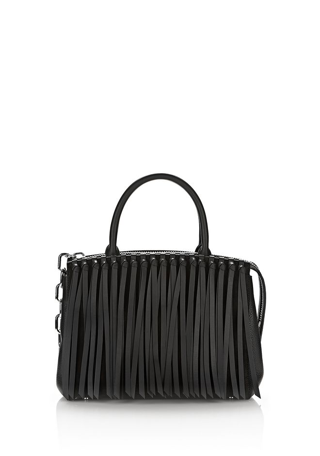 ALEXANDER WANG Shoulder bags Women ATTICA FLAP LARGE MARION IN BLACK FRINGE WITH RHODIUM