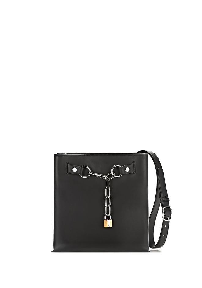 ALEXANDER WANG Shoulder bags Women ATTICA CHAIN SHOULDER BAG IN SMOOTH BLACK WITH RHODIUM