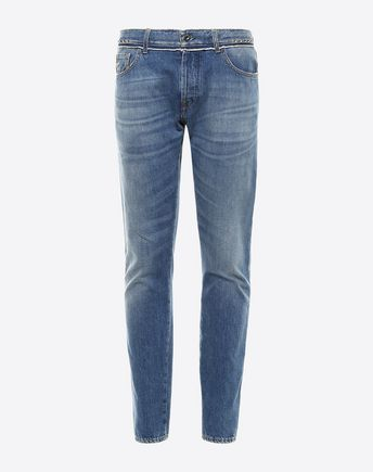 VALENTINO DENIM CHINOS ROCKSTUD UNTITLED 45332040KW