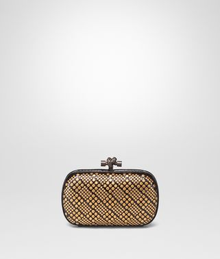 KNOT CLUTCH IN NERO AYERS, METAL STUDS DETAILS