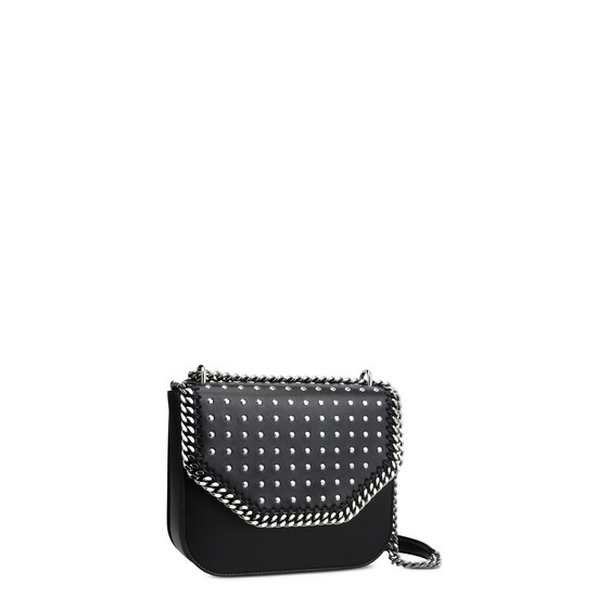 Black Studded Falabella Box Shoulder Bag