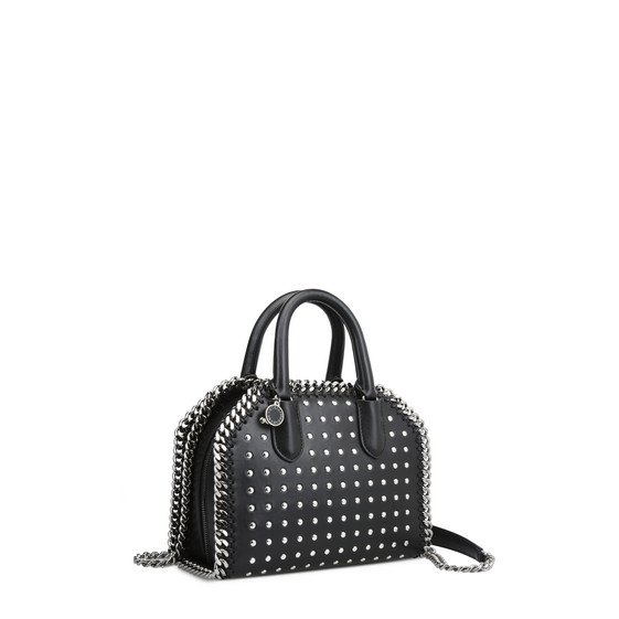 Black Studded Falabella Box Mini Bag