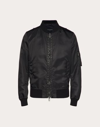 VALENTINO ROCKSTUD UNTITLED BOMBER JACKET 45333458MG