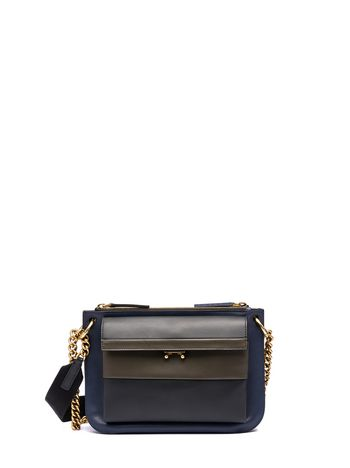 Marni POCKET bandoleer bag in calfskin Woman