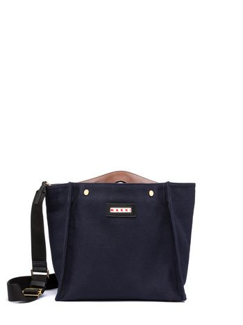 Marni Shopping bag VOILE in canvas Woman