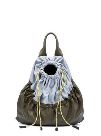 Marni PARKA bag in natural satin nappa Woman