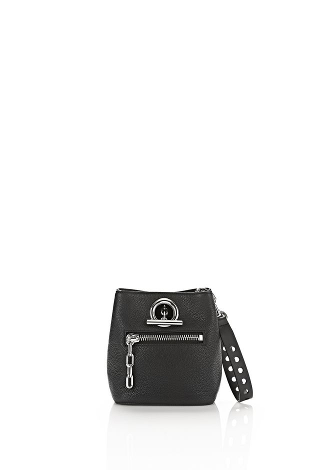 ALEXANDER WANG Shoulder bags RIOT CROSS BODY BAG IN PEBBLED BLACK WITH RHODIUM