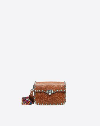 VALENTINO Guitar Rockstud Rolling Cross Body Bag 45333847UA