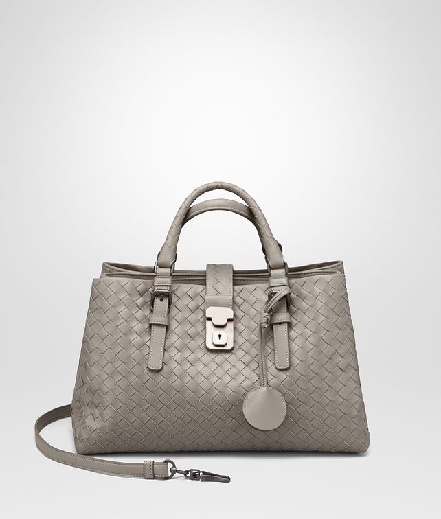 BOTTEGA VENETA ROMA BAG IN FUME' INTRECCIATO CALF Top Handle Bag D fp