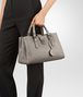 BOTTEGA VENETA FUME INTRECCIATO CALF SMALL ROMA BAG Top Handle Bag D ap