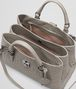 BOTTEGA VENETA FUME INTRECCIATO CALF SMALL ROMA BAG Top Handle Bag D dp