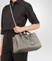 BOTTEGA VENETA FUME INTRECCIATO CALF SMALL ROMA BAG Top Handle Bag D lp