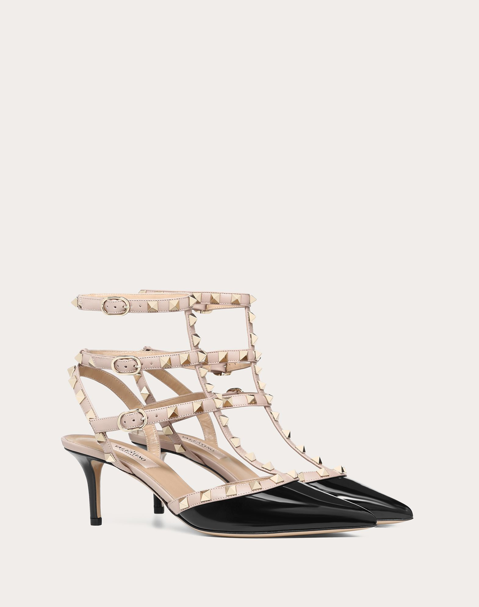 VALENTINO Varnished effect Contrasting applications Buckle Narrow toeline Leather sole  45333897si