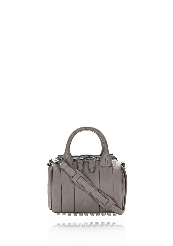 ALEXANDER WANG rockie-rocco MINI ROCKIE IN SOFT PEBBLED MATTE MINK MATTE WITH RHODIUM