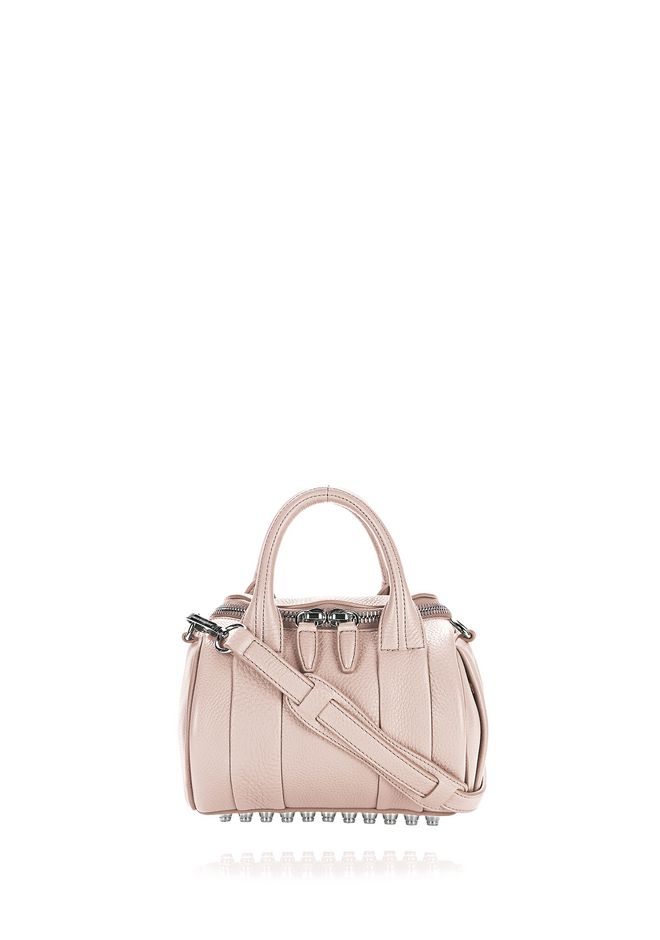 ALEXANDER WANG rockie-rocco MINI ROCKIE IN SOFT PEBBLED BLUSH WITH RHODIUM