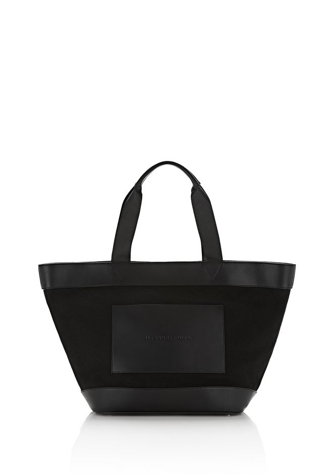 ALEXANDER WANG Shoulder bags Women BLACK CANVAS TOTE