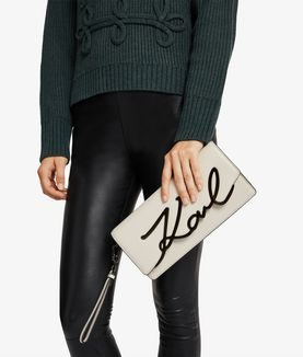KARL LAGERFELD K/SIGNATURE CLUTCH