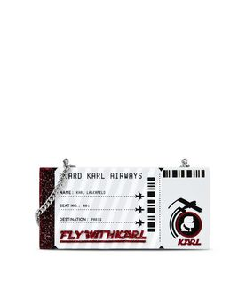 KARL LAGERFELD K/JET BOARDING PASS MINAUDIERE