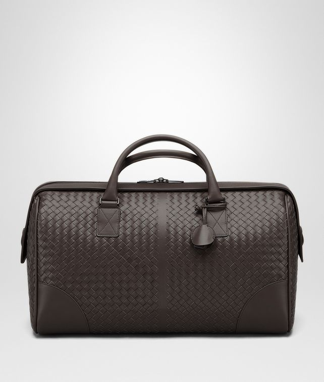 BOTTEGA VENETA MEDIUM DUFFLE BAG IN ESPRESSO INTRECCIATO VN  Luggage E fp