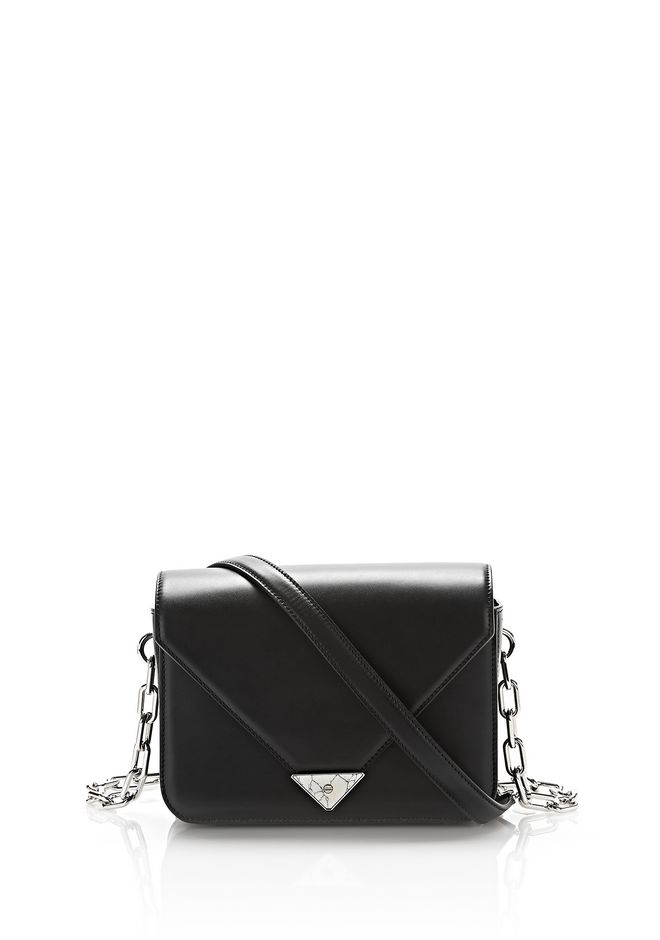 ALEXANDER WANG exclusives EXCLUSIVE PRISMA ENVELOPE SLING IN BLACK WITH MARBLE DETAIL