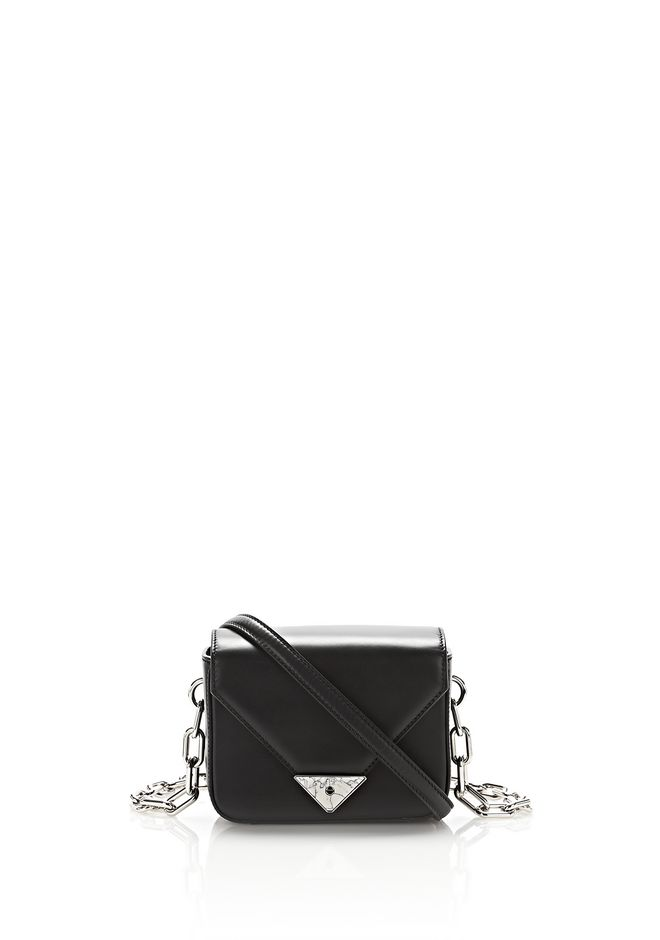 ALEXANDER WANG exclusives EXCLUSIVE MINI PRISMA ENVELOPE SLING IN BLACK WITH MARBLE DETAIL