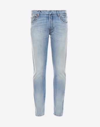 VALENTINO DENIM CHINOS ROCKSTUD UNTITLED 45335818HG