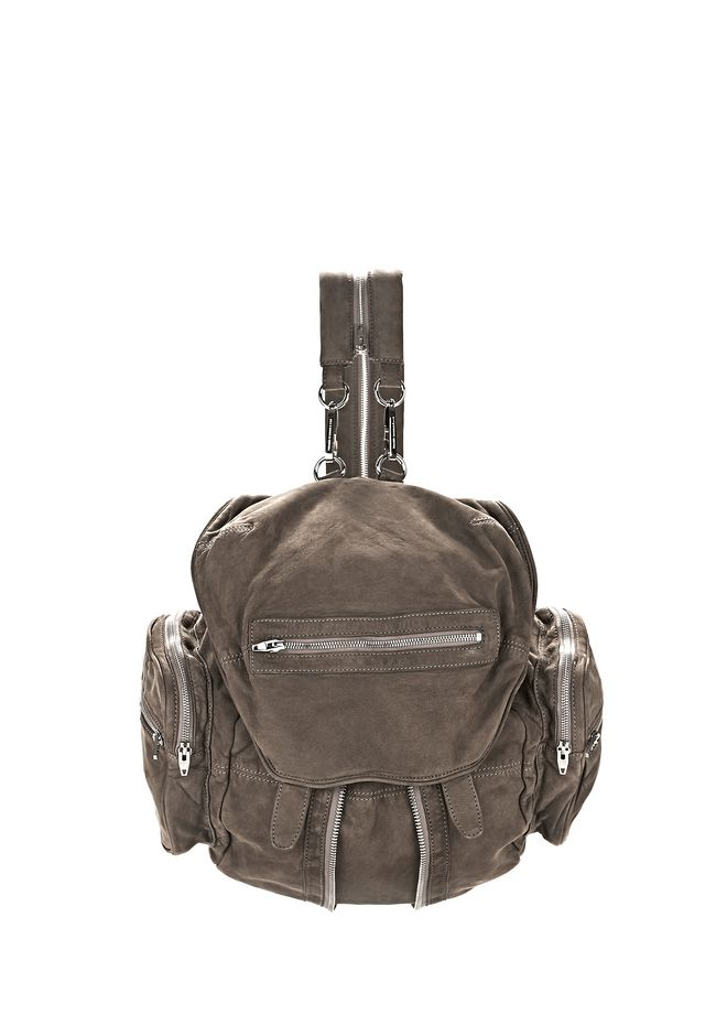 ALEXANDER WANG BACKPACKS Women MARTI IN WASHED MINK NUBUCK WITH RHODIUM