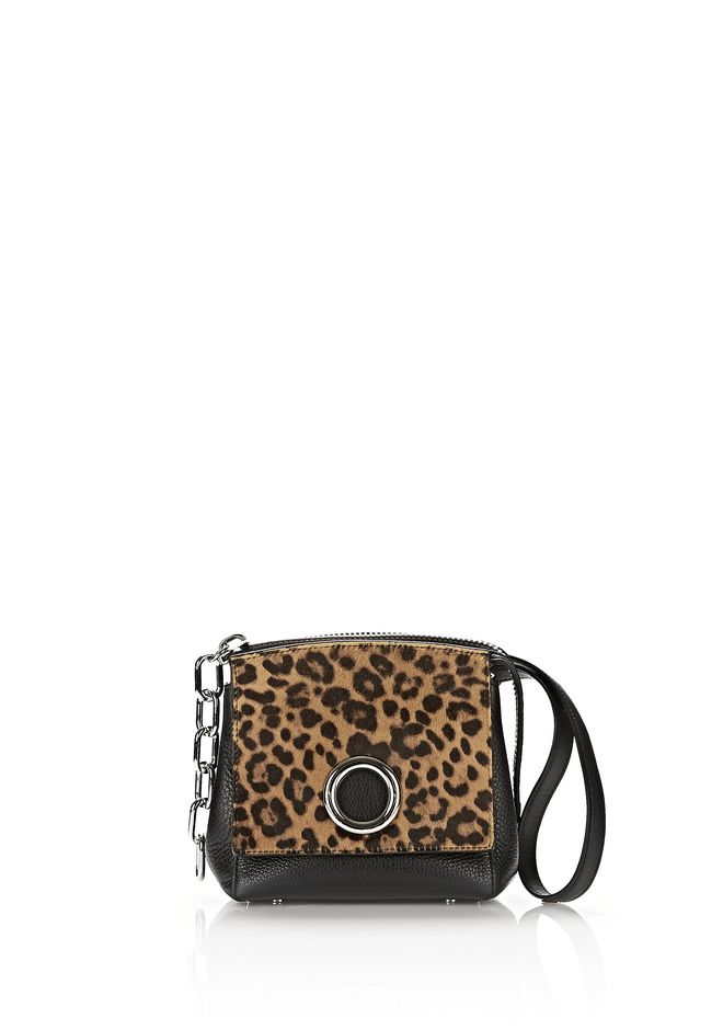 ALEXANDER WANG sale-w-accessories ATTICA FLAP MARION IN PRINTED LEOPARD WITH RHODIUM