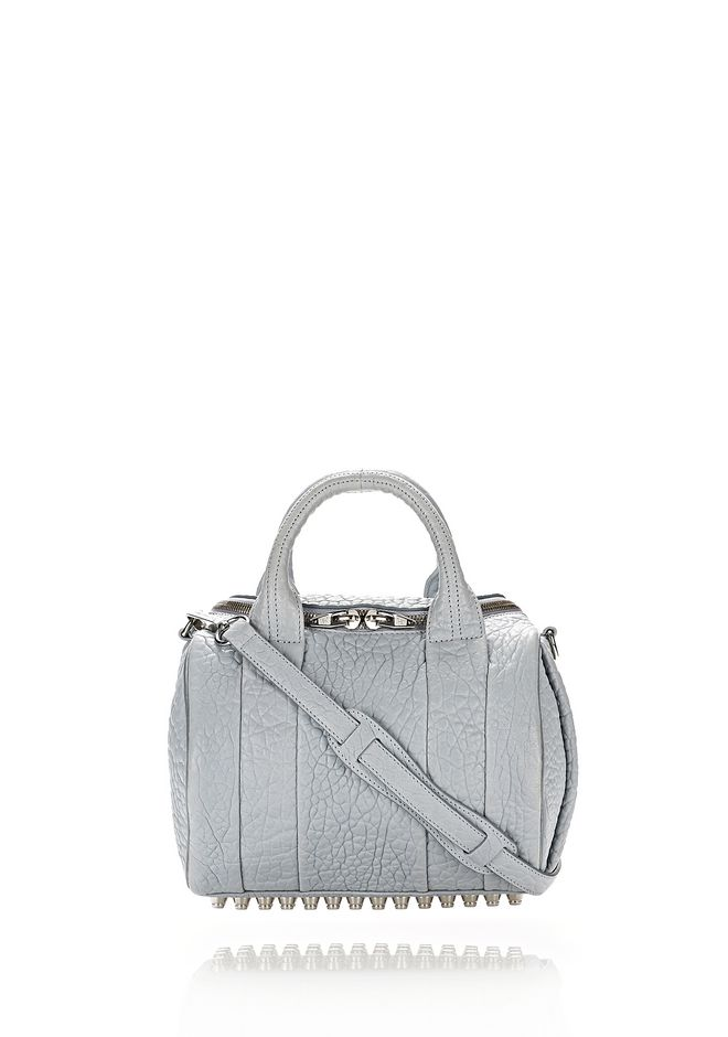 ALEXANDER WANG rockie-rocco ROCKIE IN PEBBLED POWDER WITH RHODIUM