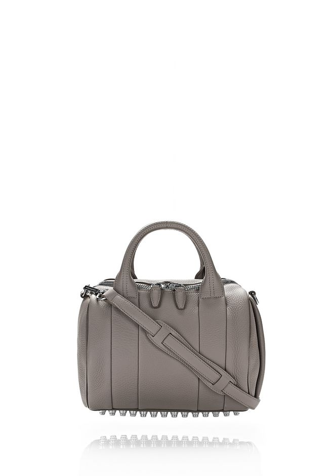ALEXANDER WANG rockie-rocco ROCKIE IN SOFT PEBBLED MATTE MINK WITH RHODIUM