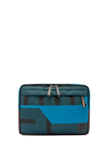 Marni PORTER clutch in color-block nylon Man