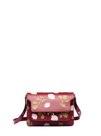 Marni Shoulder bag FLOWER PATCH TRUNK in calfskin Woman