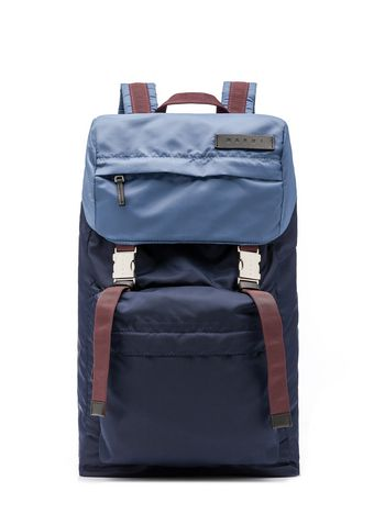 Marni Bi-coloured nylon backpack  Man