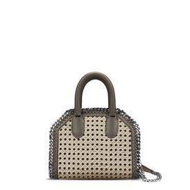 STELLA McCARTNEY Falabella Mini Bags D Khaki Falabella Box wicker Mini Bag  f