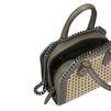 STELLA McCARTNEY Khaki Falabella Box wicker Mini Bag  Falabella Mini Bags D e
