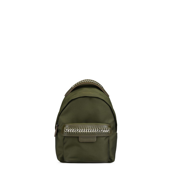 Khaki Falabella GO Mini Backpack