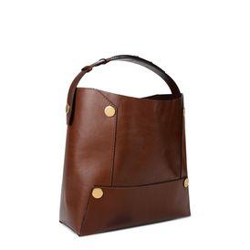 Cognac Stella Popper Bucket Bag