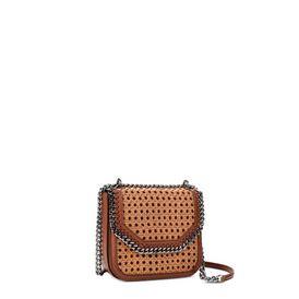 Tan Falabella Box wicker Medium Shoulder Bag