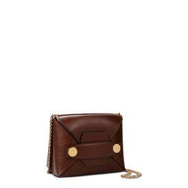 Cognac Stella Popper Small Shoulder Bag