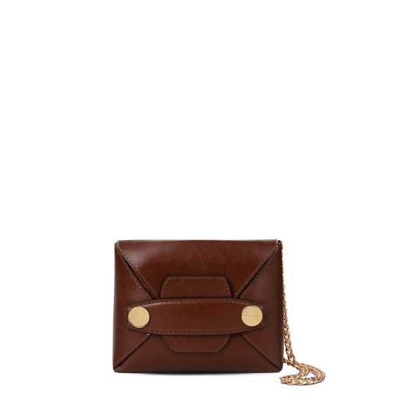 Cognac Stella Popper Small Shoulder Bag