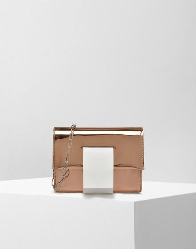 MM6 by MAISON MARGIELA Clutch D Mirror-effect cluth bag f