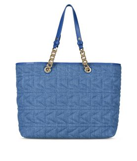 KARL LAGERFELD K/KUILTED DENIM SHOPPER