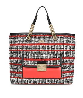 KARL LAGERFELD K/KUILTED TWEED SHOPPER