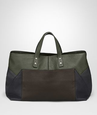 TOTE BAG IN ESPRESSO DARK NAVY DARK SERGEANT NERO CERVO